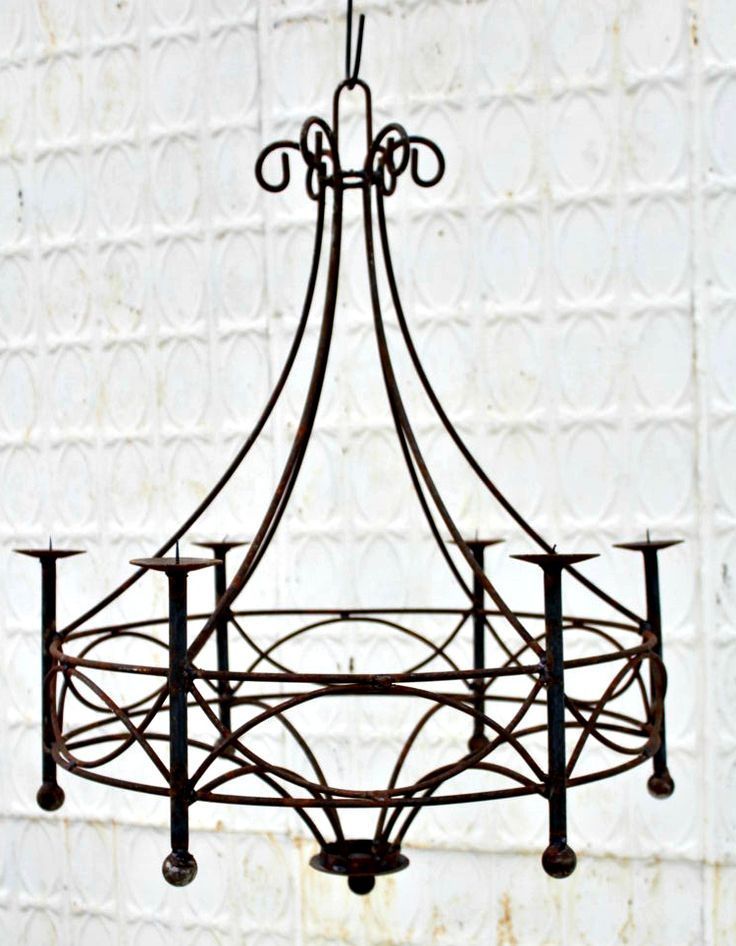 Wrought Iron Cassie Chandelier Candle Lighting Candelabra Candle
