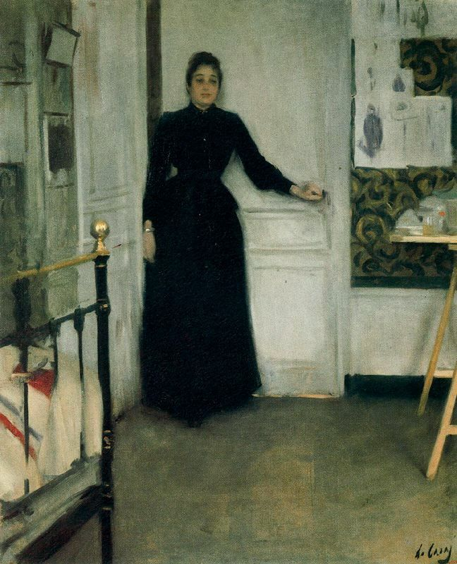 Mujer en la habitacion (Ramon Casas i Carbó - No dates listed)