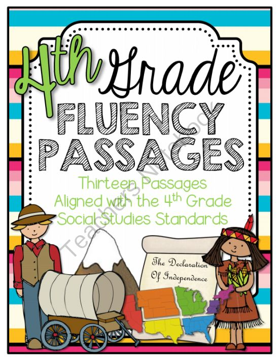 4th Grade Social Studies Fluency Passages from Barnard Island on TeachersNotebook.com -  (17 pages)  - This is a useful tool to help students practice their oral fluency while reading about social studies topics aligned with the 4th grade standards.