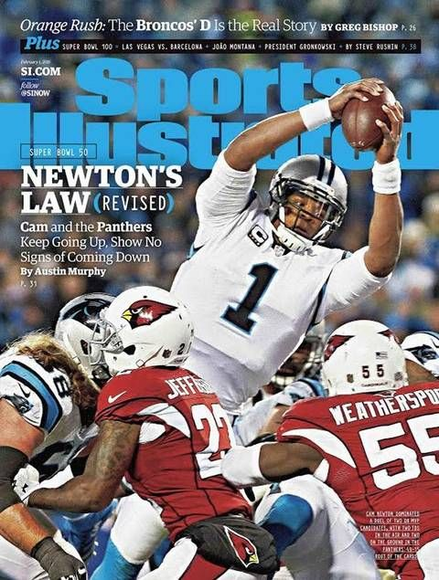 Panthers QB Cam Newton is featured on Sports Illustrated's cover this week