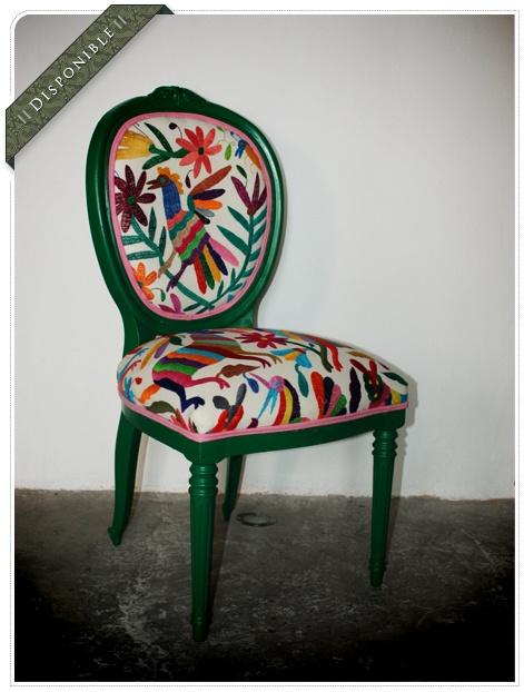 Nombre silla berde vordada autor juan pablo guarneros for Sillas antiguas tapizadas modernas