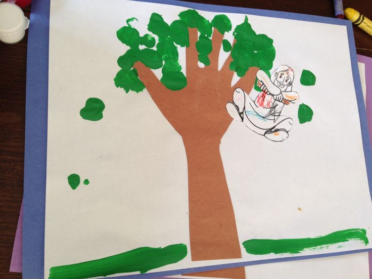 zacchaeus handprint craft preschool bible lessons