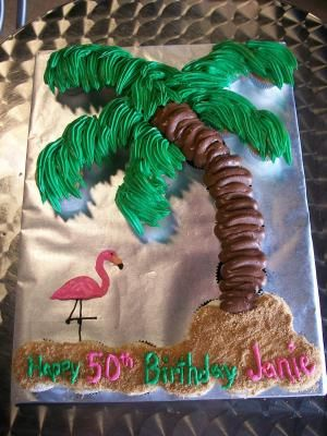 Palm tree birthday cake- perfect for beach lovers