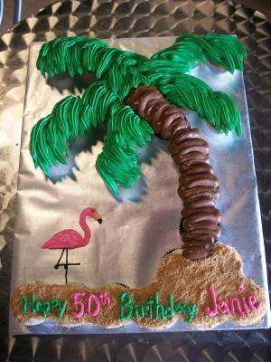 Palm Tree Birthday Cake