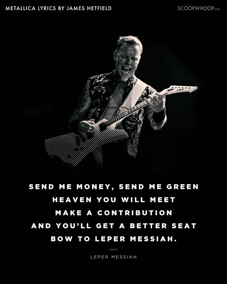 172 best METALLICA - LYRICS / QUOTES images on Pinterest ...