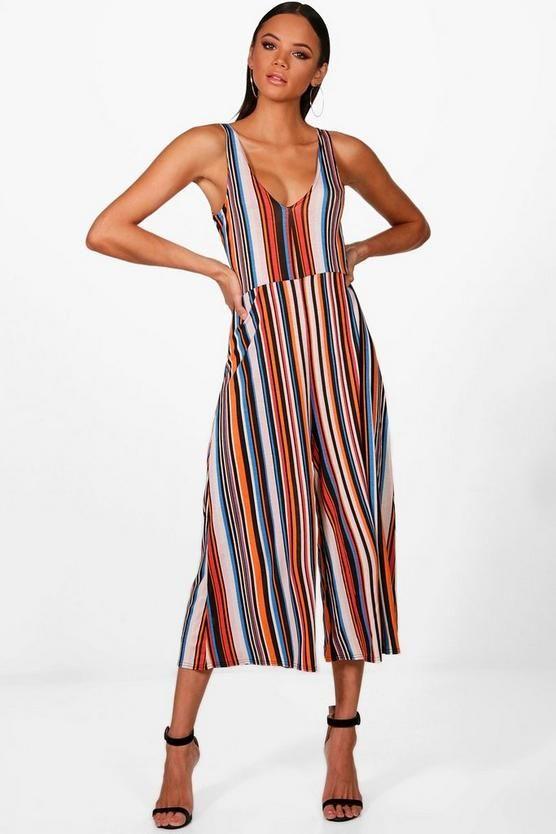 8866b1dc99 Stripe Colour Jumpsuit in 2019 | Fashion | Jumpsuit, Romper outfit ...