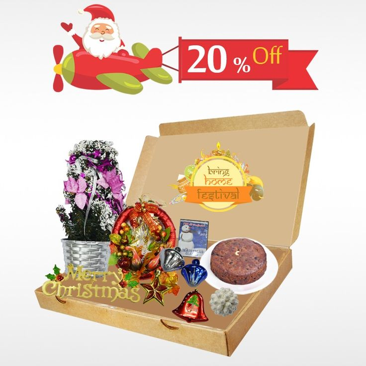 Buy a surprise gift to your friends and family this #Christmas and avail 20% off on #ChristmasGiftBox  only at #BringHomeFestival