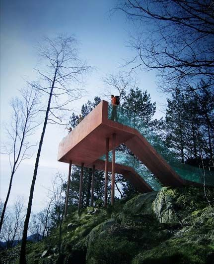 We dont usually write about sculptural installations, however this one-of-a-kind viewing point has touched our soft spot for unique structures. It was designed for the Sti For Oye sculpture park in Stokke, set amongst the Vestfold oak forest to the West of Oslo. As you enjoy the woodland walk throughout the park, you will reach …