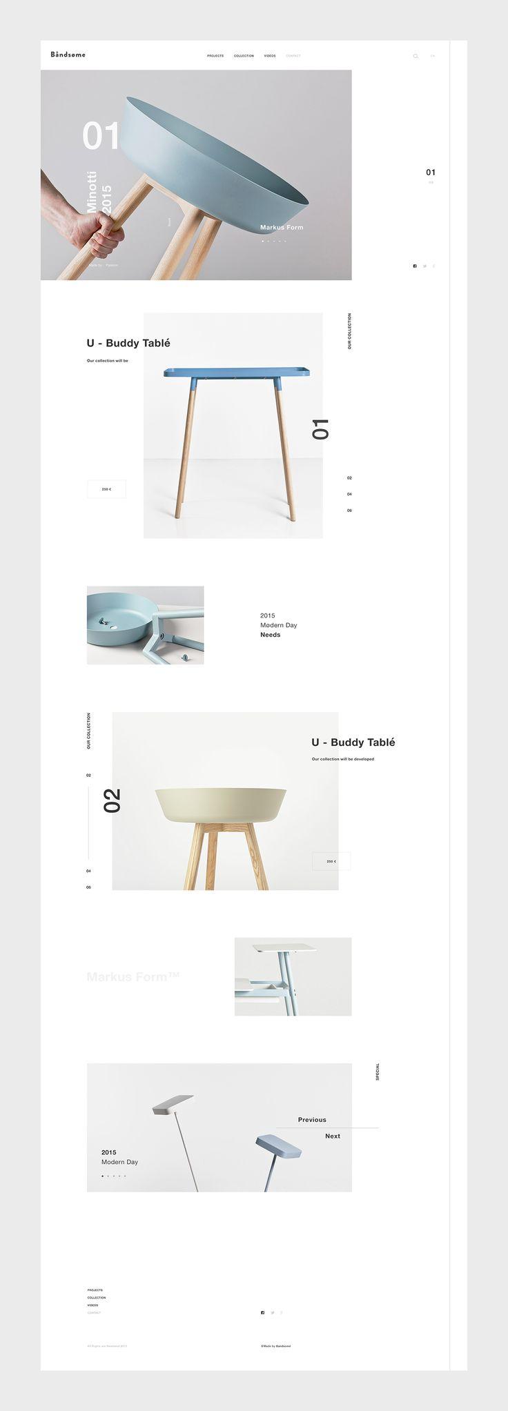 Bandsøme webpage design