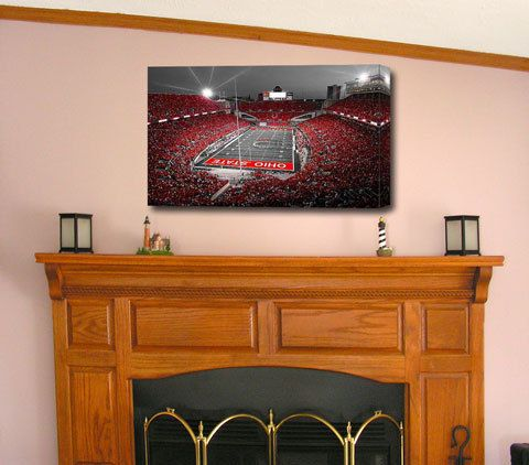 Limited Edition (only 25) - A Scarlet Stage - Ohio State Buckeyes Ohio Stadium Numbered Signed 24x36 Canvas Wrap by Kenneth Krolikowski on Etsy, $200.00