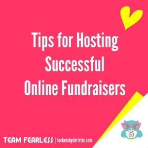 Tips for Hosting Successful Online Fundraisers | Follow Christie Huck Origami Owl® Team Leader #40175 on Facebook at https://www.facebook.com/OrigamiOwlChristieHuckIndependentDesigner #OrigamiOwl #DirectSales #TeamFearless #Fundraisers