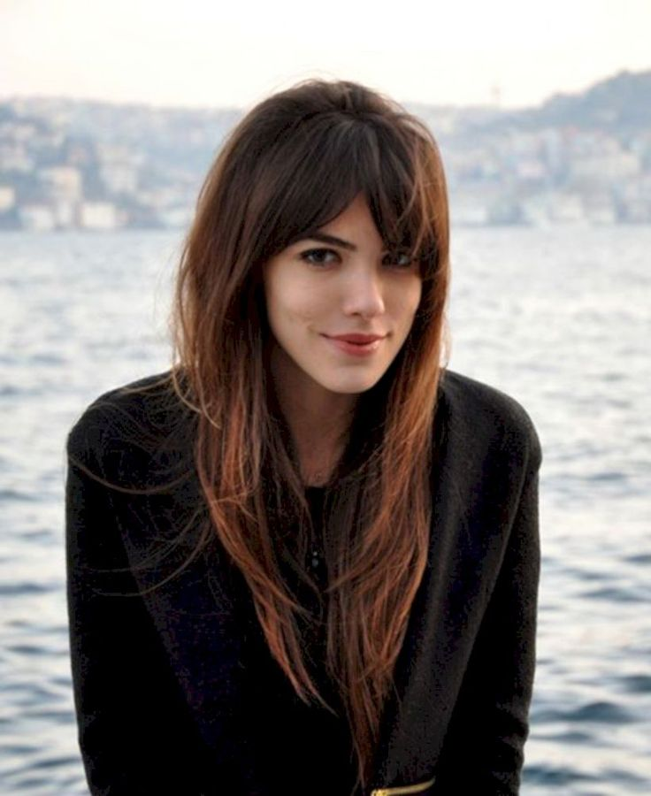 33 Lengthy Hair with Brief Bangs is Greatest Girls Haircut this Fall