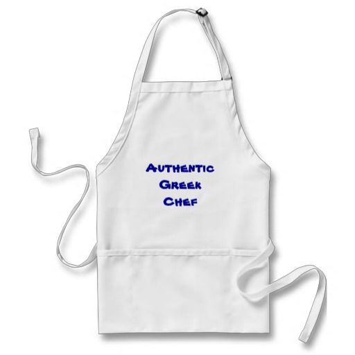 Authentic Greek Chef Apron - Show everyone you're an Authentic Greek chef!  http://www.zazzle.com/authentic_greek_chef_apron-154083382533747782