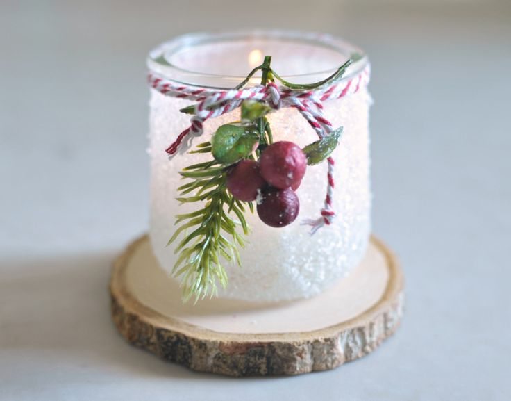 Xmas Oui Yogurt Jar Crafts