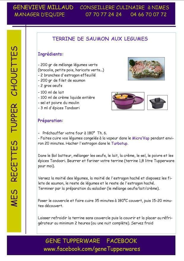 Entrée - Terrine de saumon aux légumes - Microvap UltraPro - Tupperware