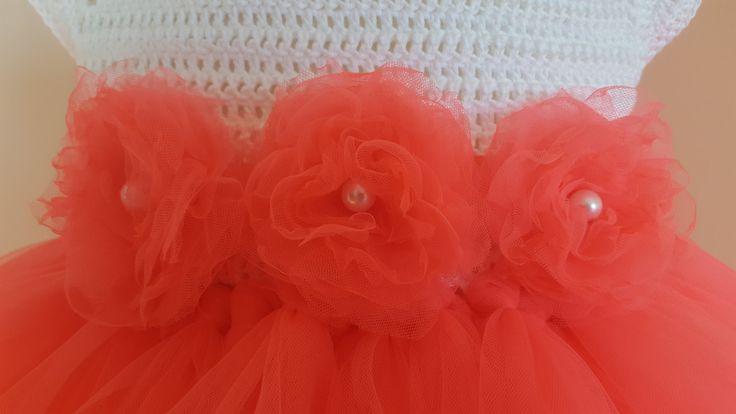 koraal tutu jurk bloem hoofdband tutu jurk door byAnastassia