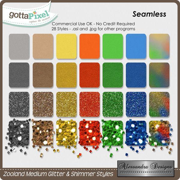 Zooland Medium Glitter & Shimmer Styles created by Alessandra Designs.