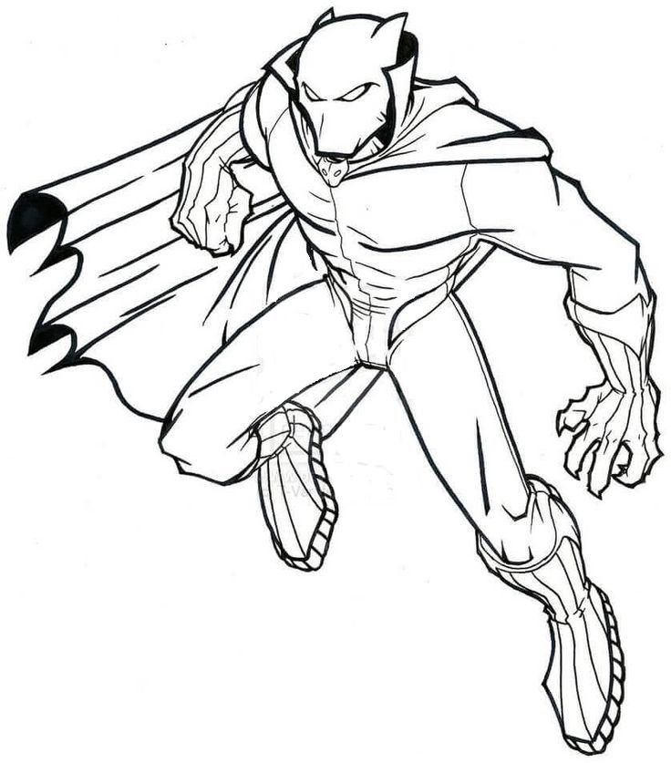 Black Panther Coloring Sheet Printable Superhero Coloring Pages Superhero Coloring Avengers Coloring Pages