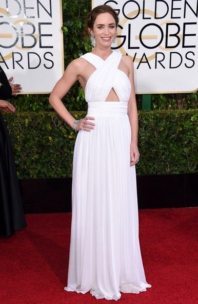 Emily Blunt Photos: Arrivals at the Golden Globe Awards