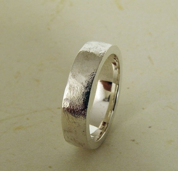 Shoply.com -Unisex Silver Wedding Ring  (with customization options). Only $62.00
