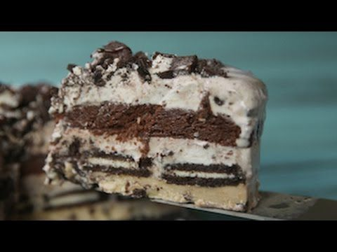 Excuse the name  Slutty Brownie Ice Cream Cake - Slutty Brownie Cake
