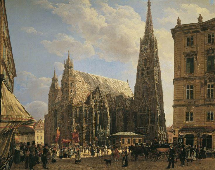 St. Stephen's Cathedral in Vienna, 1832, Rudolf von Alt. Austrian (1812 - 1905)