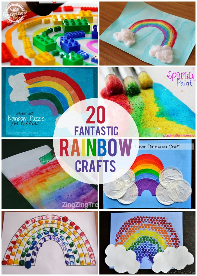 20 Fantastic Rainbow Crafts