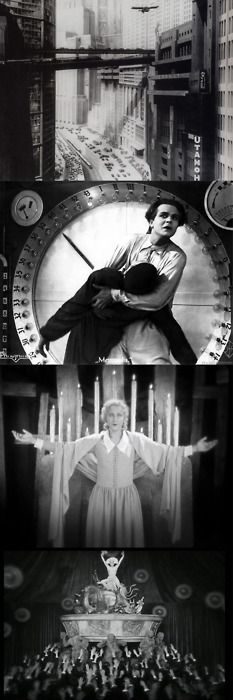 "scene from ""Metropolis"" (1927) diredted by Fritz Lang."