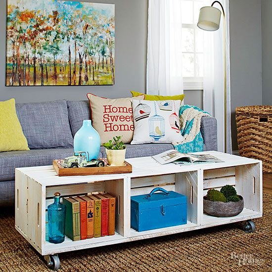 Craft a coffee table that reflects both your style and your do-it-yourself ingenuity with these inspiring ideas.