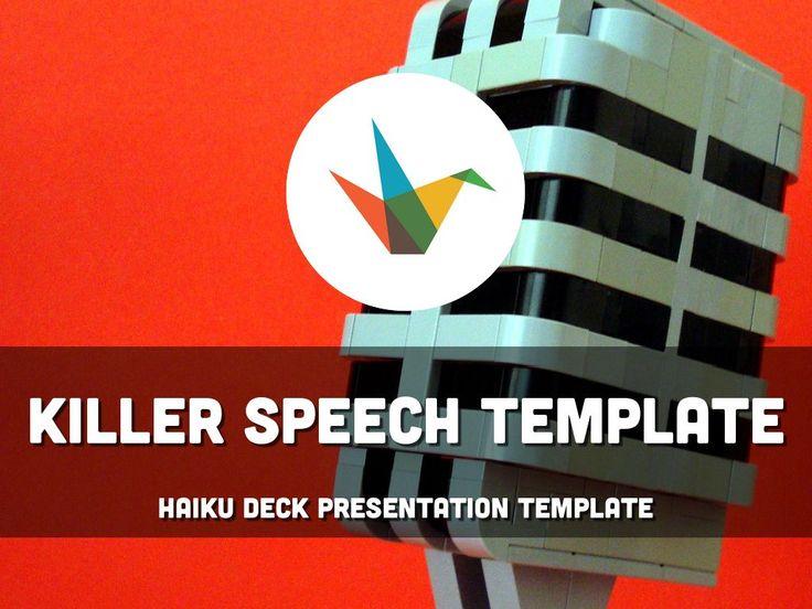Killer Speech Template - Simple, beautiful, flexible presentation template to use as a starting point for a killer speech.