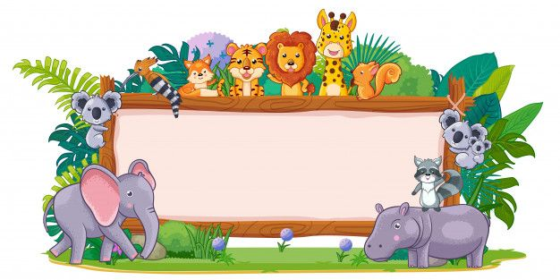A Blank Sign Wood On White Blank Sign Animals Wild Animal Clipart