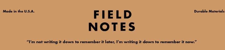 UK stockists of Field Notes notebooks, amongst other items.