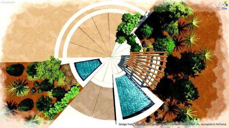 Radial Form Composition In Landscape Design Software