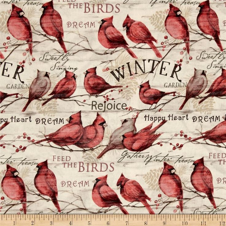 Designed by Susan Winget, this cotton print fabric is perfect for quilting, apparel, and home decor accents. Colors include red, tan, green and brown.
