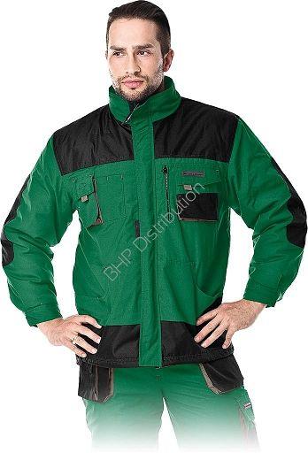 Zielona kurtka robocza zimowa LH-FMNW-J_ZBS