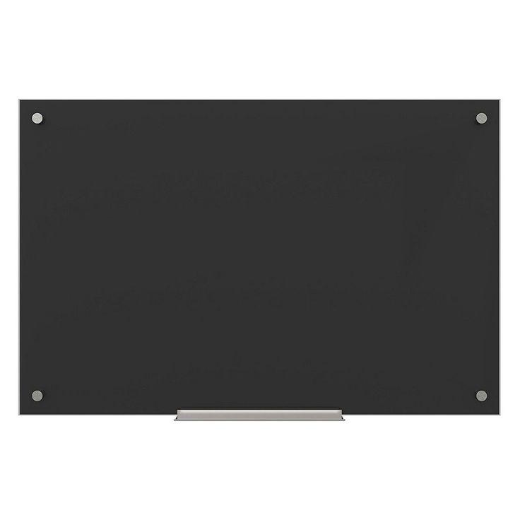 U Brands Black Glass Dry Erase Board - 170U00-01