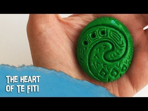 DIY tutorial - How to make The Heart of Te Fiti - Moana / Vaiana (polymer clay) - YouTube