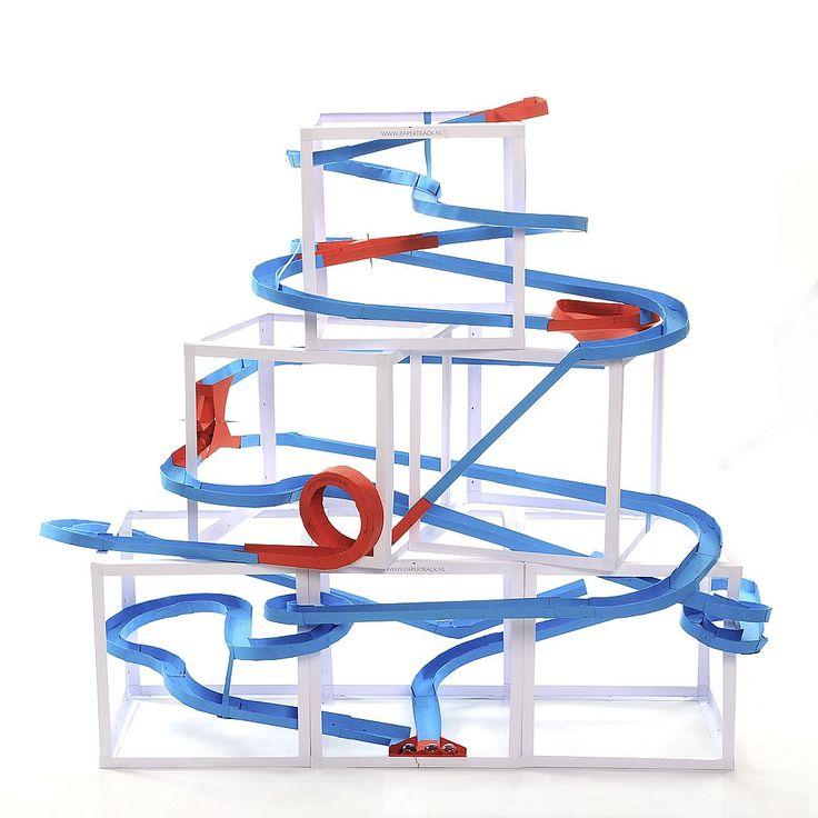 Knikkerbaan van papier: Papertrack>Bouwspeelgoed>Alle Producten>Apart en origineel speelgoed, webwinkel TrendySpeelgoed.nl