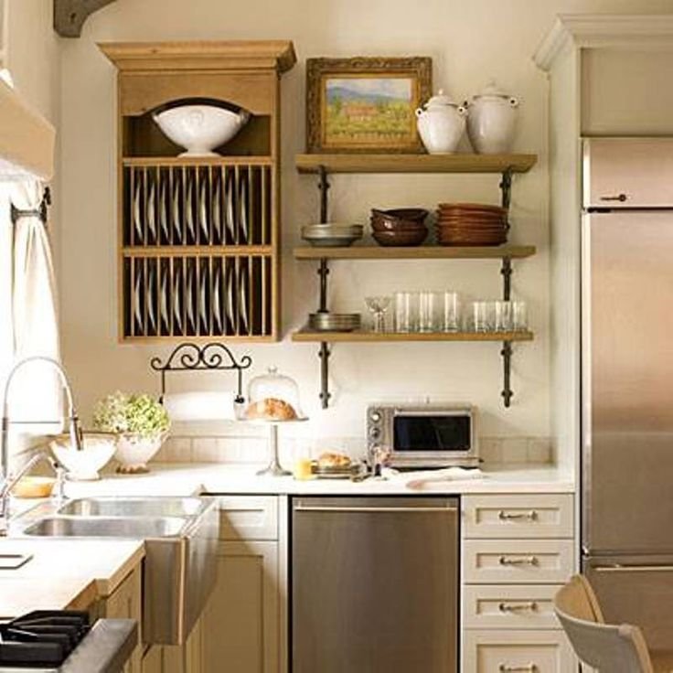 Kitchen organization ideas small kitchen organization for Small kitchen shelves