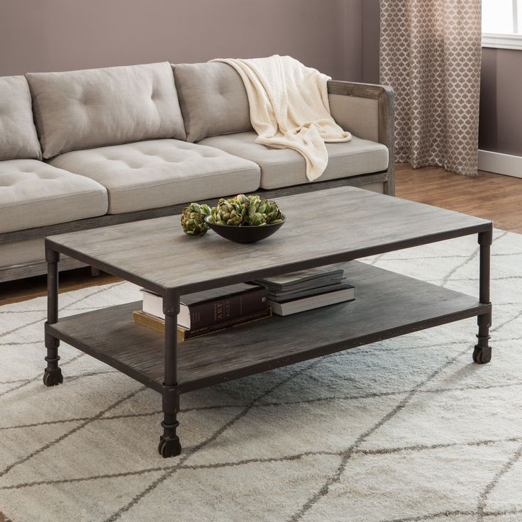Best Carbon Loft Renate Brown Grey Coffee Table Furniture 400 x 300