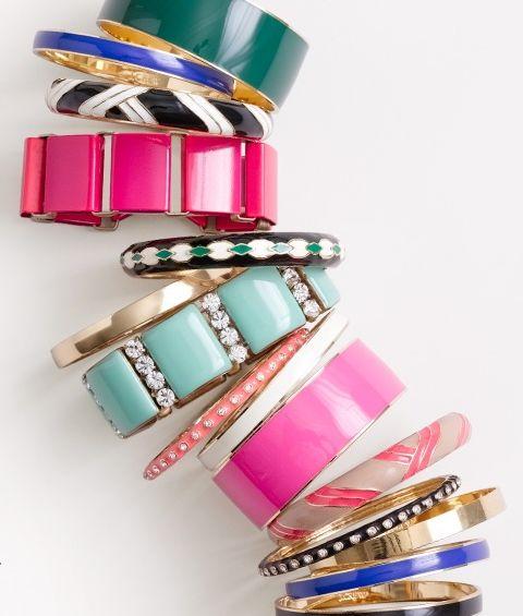 jcrew: Arm Candy, J Crew, Jewelry, Bangles Bracelets, Jcrew, Accessories, Arm Candies, Bright Colors, Arm Parties