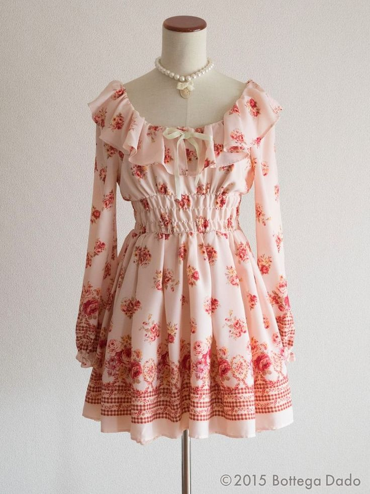 LIZ LISA Floral Rabatine Off-shoulder Dress Hime Gyaru Lolita Kawaii 109 Japan #LizLisa #Peplum #Shibuya109Lolitafashion