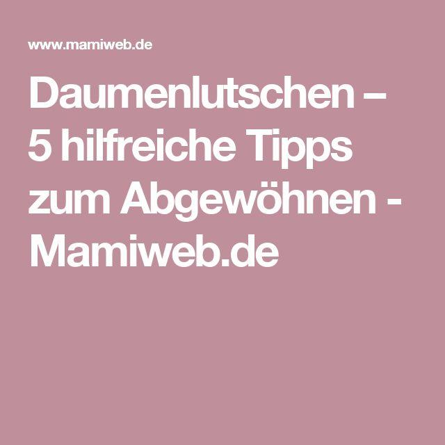 Daumenlutschen – 5 hilfreiche Tipps zum Abgewöhnen  - Mamiweb.de