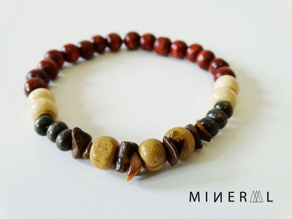 L'homme boisé perles Bracelet par MNRL sur Etsy