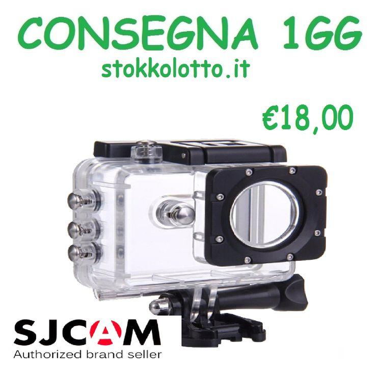 Sjcam sj5000 wifi plus ultra full hd 4k cover waterproof case custodia protettiva antiurto impermeabile subacquea trasparente