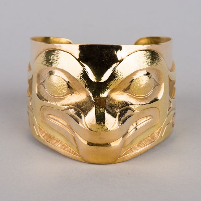 Repousse Frog Bracelet by Haida (First Nations) artist Jesse Brillon from British Columbia