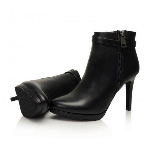 Dámska členková obuv čiernej farby - fashionday.eu