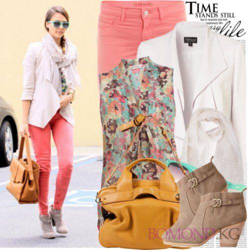 С чем носить цветные джинсы? Советы, фото, видео