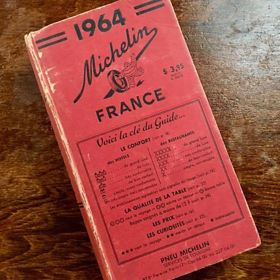 Michelin Red Guide France Rare Travel Guide Beautiful Old Etsy Michelin Red Guide Red Guide Travel Guide