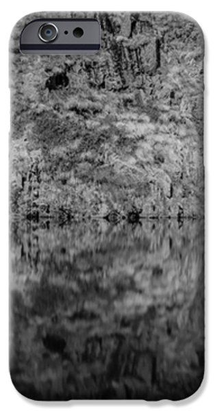 Geometries On A Mountain Lake iPhone Case by Cesare Bargiggia